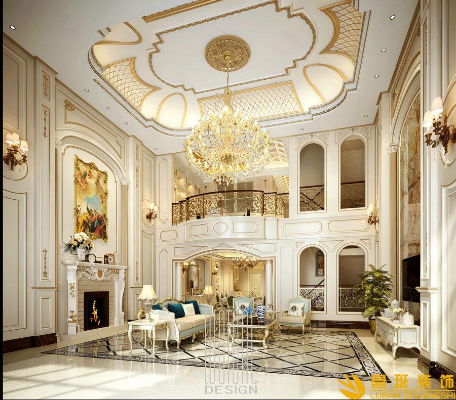 成都翡翠国际350平法式别墅设计装修效果图