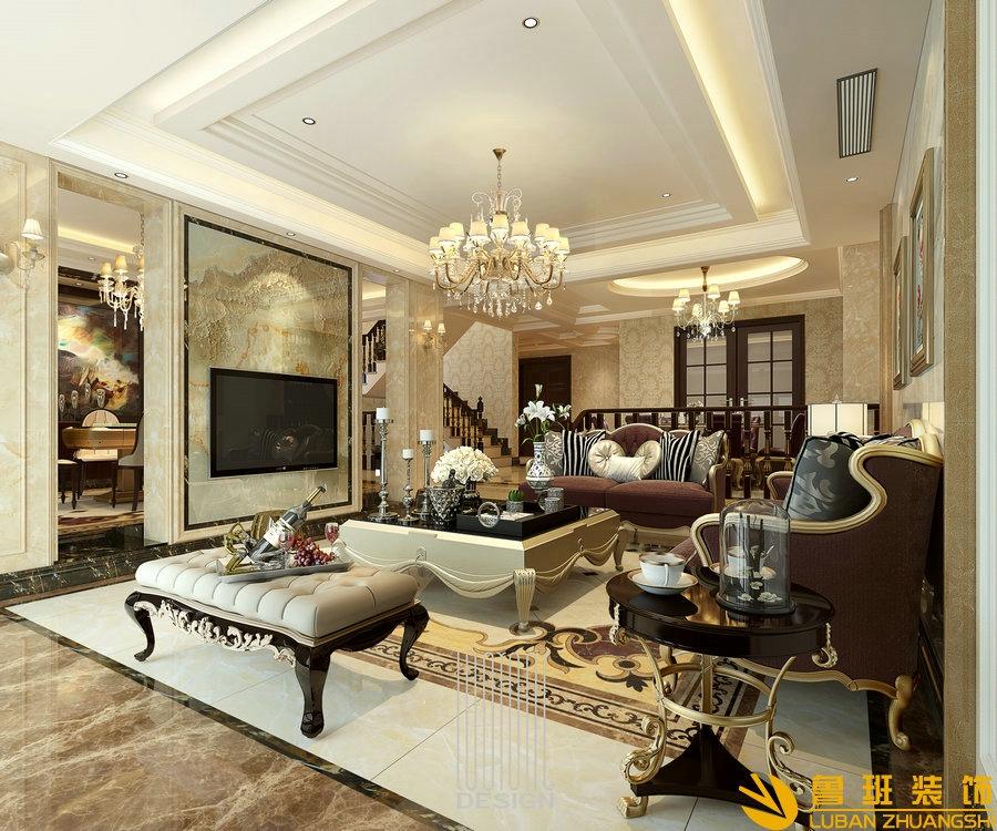 成都雅居乐550平美式别墅设计装修效果图
