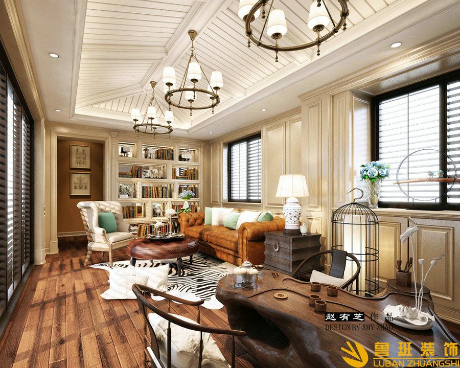 成都碧桂园400平欧式别墅设计装修效果图