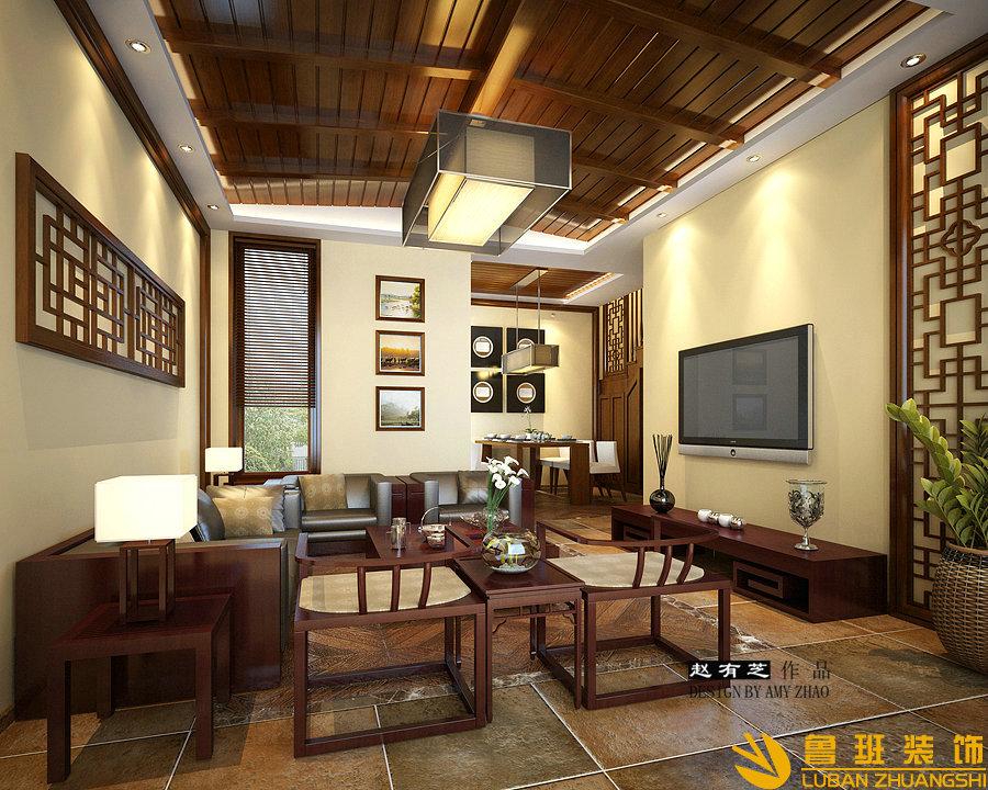 假日青城200平中式度假别墅设计装修效果图