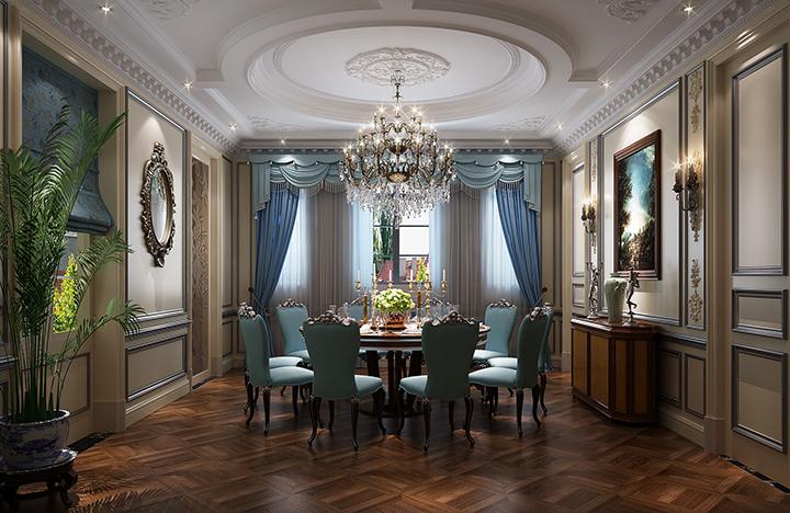 卢浮宫别墅法式风格设计装修效果图