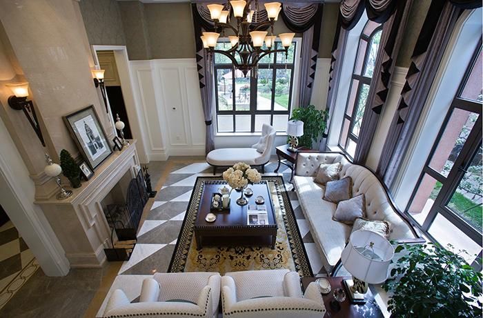 蔚蓝卡地亚别墅美式风格设计装修效果图