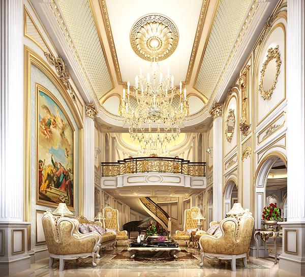 麓山国际别墅欧式风格设计装修效果图