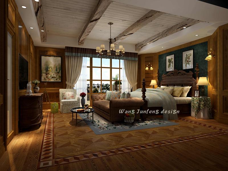 悠山郡520㎡独栋别墅美式风格装修效果图