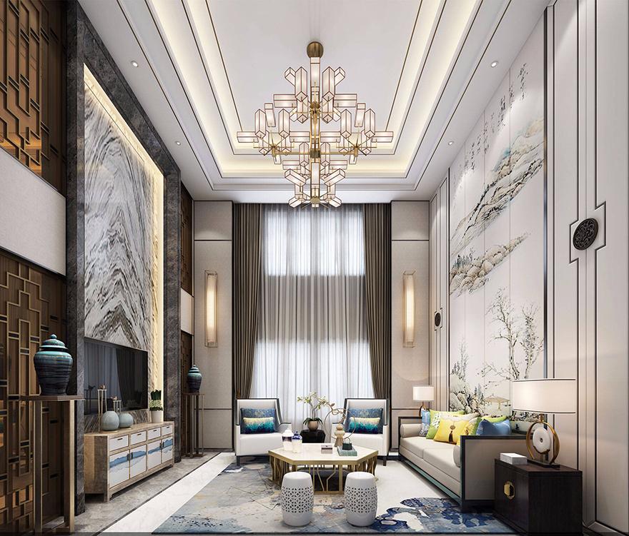 雅居樂600平中式風格別墅設計裝修效果圖