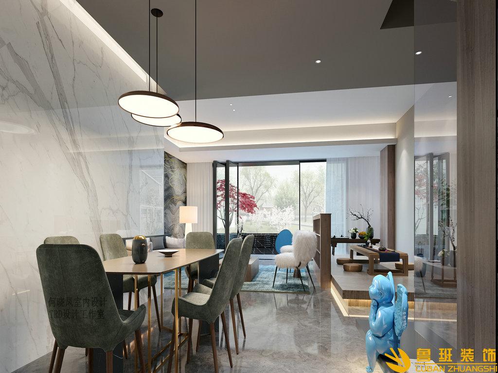 龙湖·九里晴川265平别墅装修简约风格设计案例