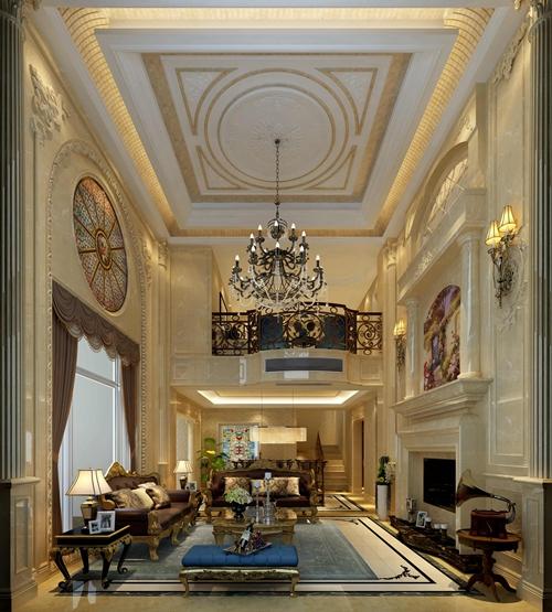 雅居乐780平米别墅装修法式风格设计案例