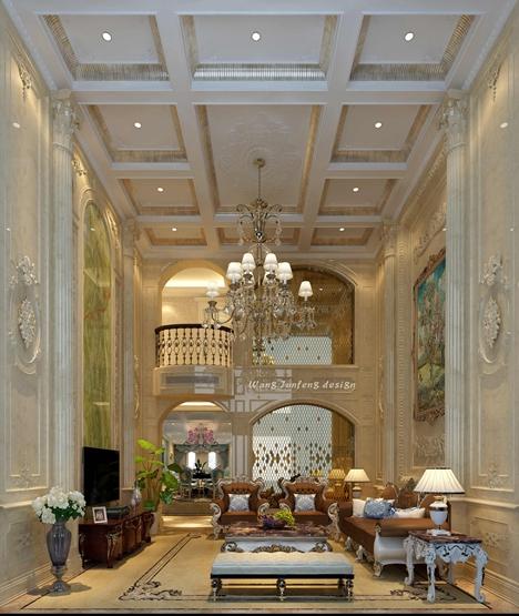 380平米保利心语联排别墅装修法式风格设计案例