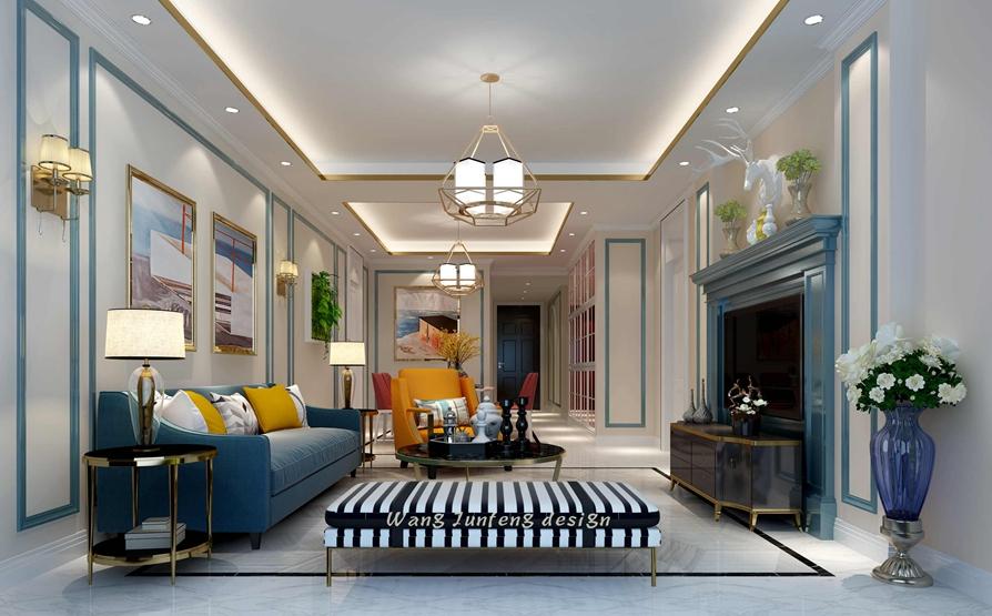 世茂玉锦湾128平米现代风格精品装修设计案例
