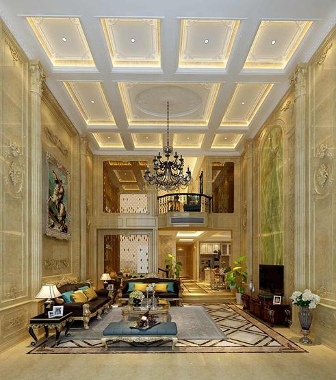 410平米复地御香山别墅装修法式风格设计案例