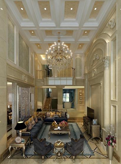 成都雅居乐花园340平米别墅装修欧式风格设计案例