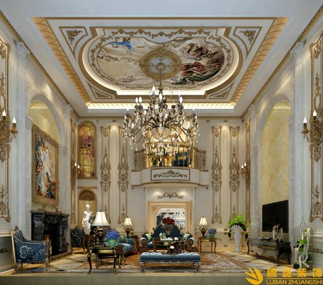 800平米牧马山蔚蓝卡地亚别墅装修法式风格设计案例