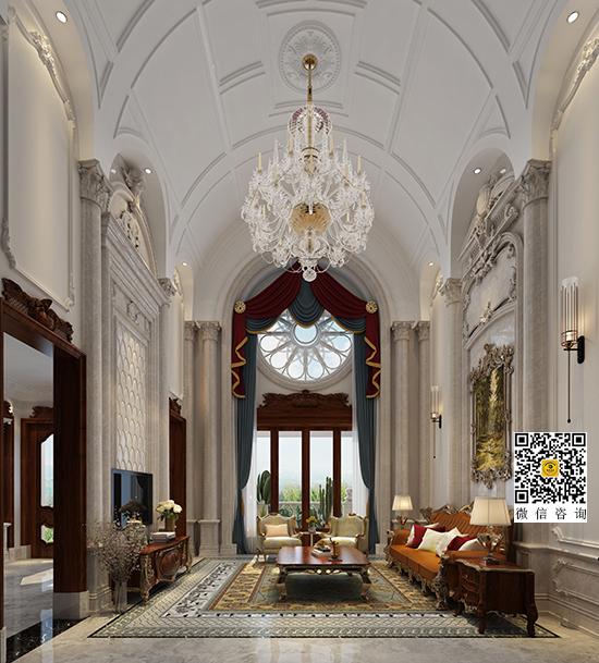 法式豪华别墅装修设计案例-龙湖长桥郡